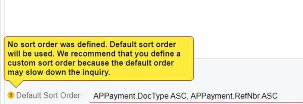 Default Sort Order Close up